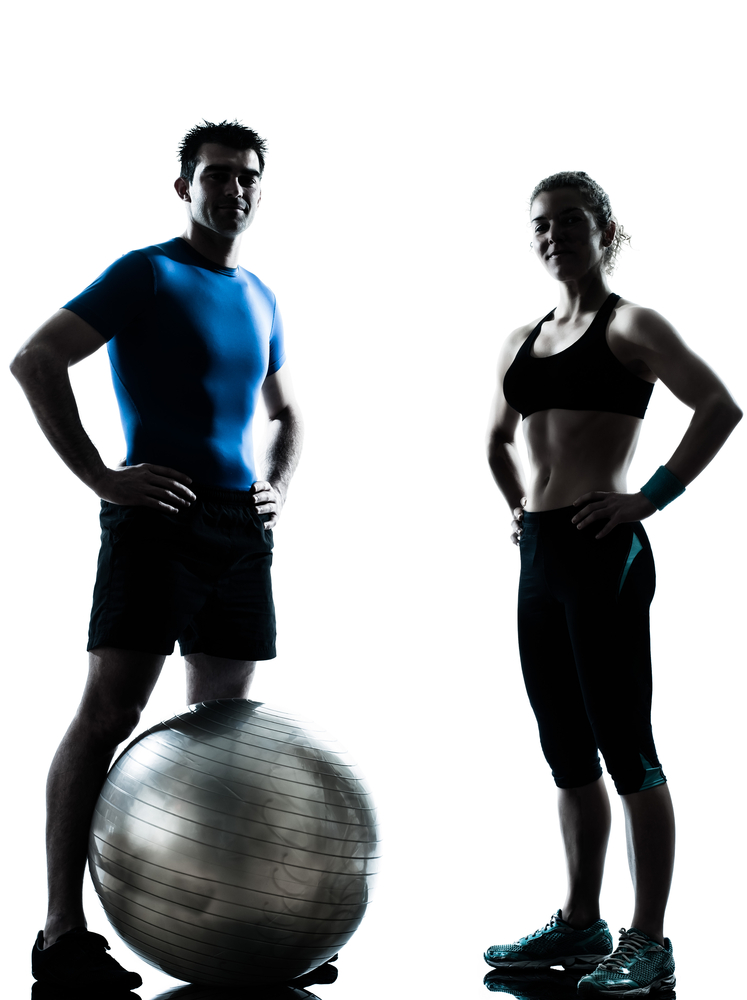 успешный фитнес-тренер